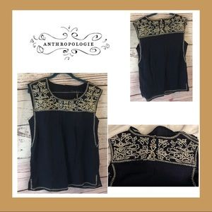 Anthropologie THML Embroidered Sleeveless Blouse